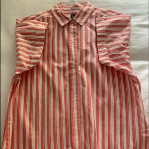 GAP Women's Striped Collared Button Up